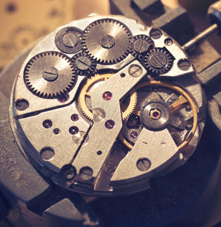 Photo of a watch mechanism