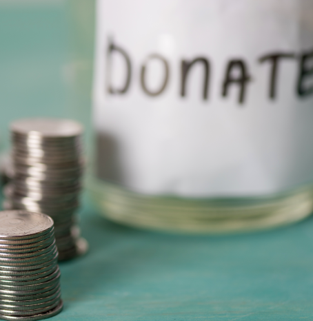 Charitable giving - donate jar
